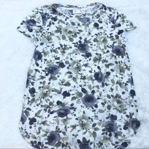 Anthropologie postage Stamp floral tee size small
